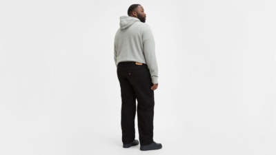 Levi's 550 Black Big and Tall Jeans Back