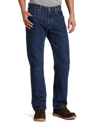 Levi's 501 Prewashed Dark Stonewash Jeans