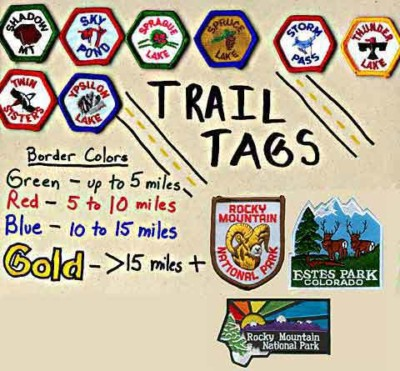 Embroidered Trail Tag patches