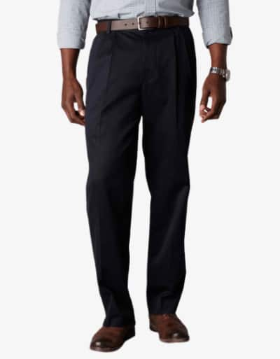 Dockers D3 Classic Fit Pleated Navy