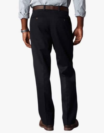 Dockers D3 Classic Fit Pleated Navy Back
