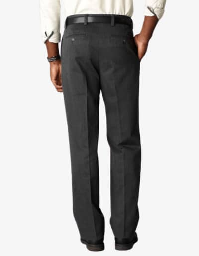 Dockers D3 Classic Fit Pleated Charcoal Heather Back