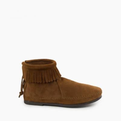 Back Zip Hardsole Boot Dusty Brown