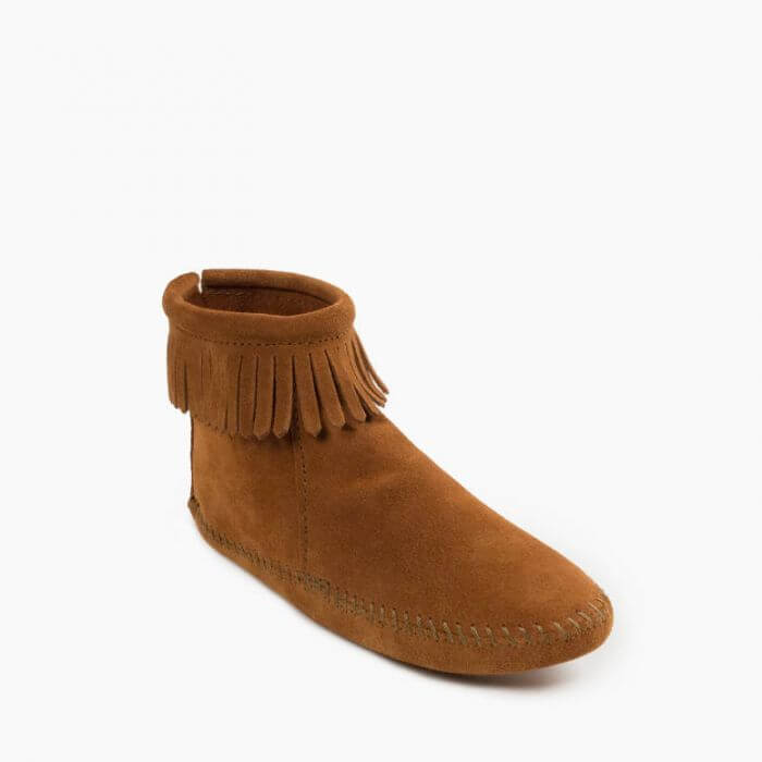 Back Zip Softsole Boot Brown
