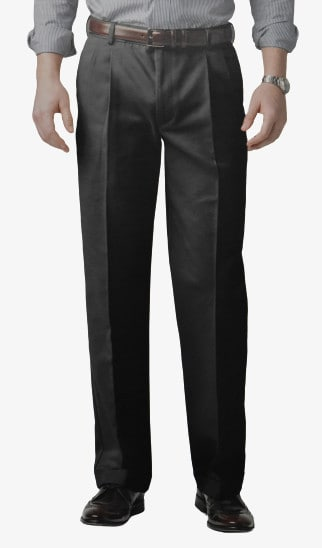 Dockers D3 Comfort Fit Pleated Cuffed Dark Front Side