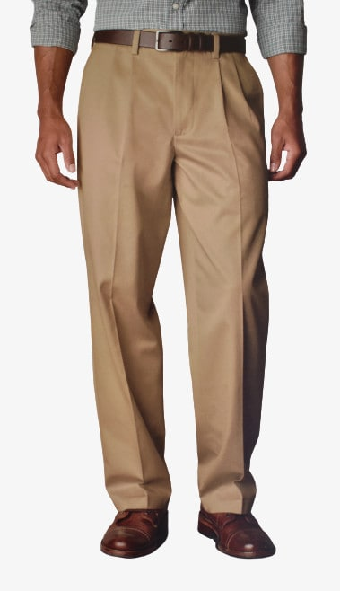 Dockers D4 Relaxed Fit Pleated True Chino Front Side