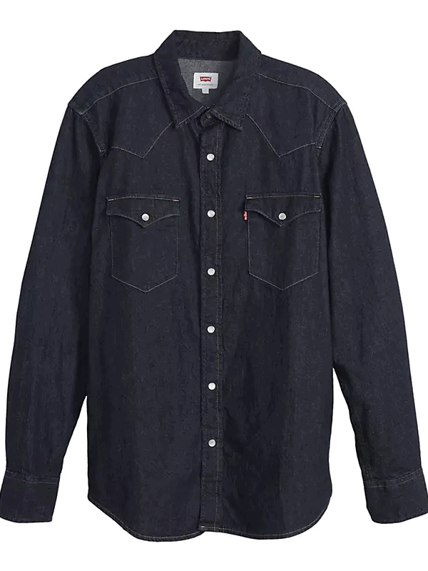 Rinsed Indigo Levi's Classic Western Denim Shirt