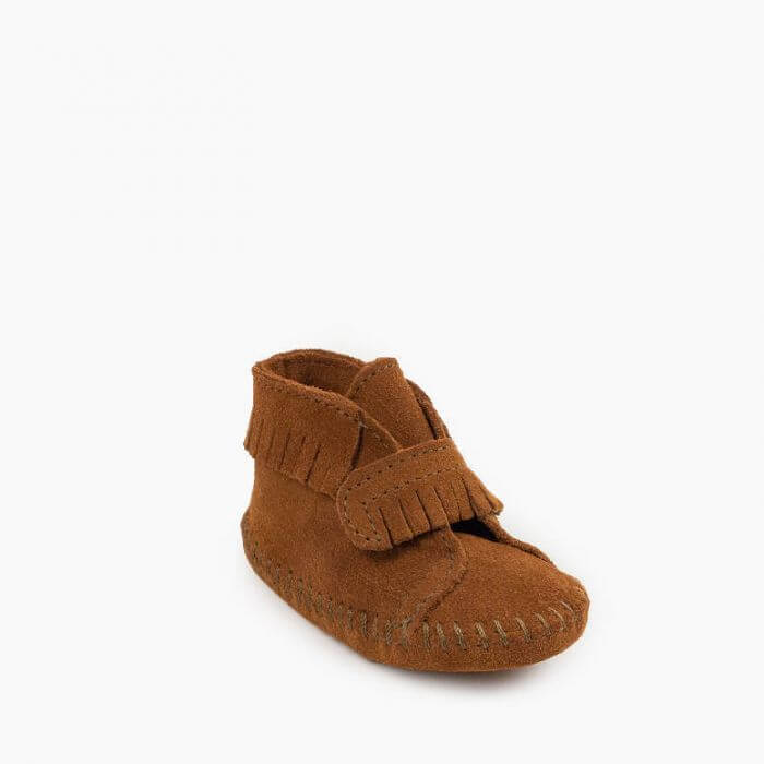 Infant Bootie Front Strap Brown