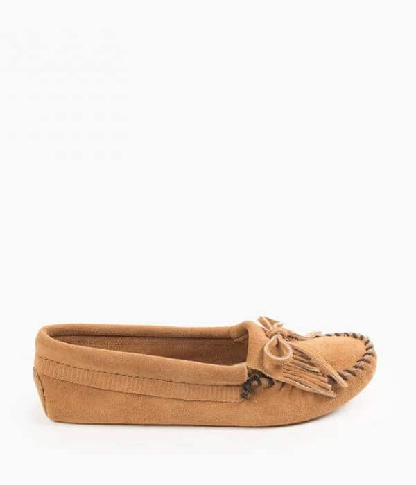 Women's Kilty Soft Sole Moccasin Taupe