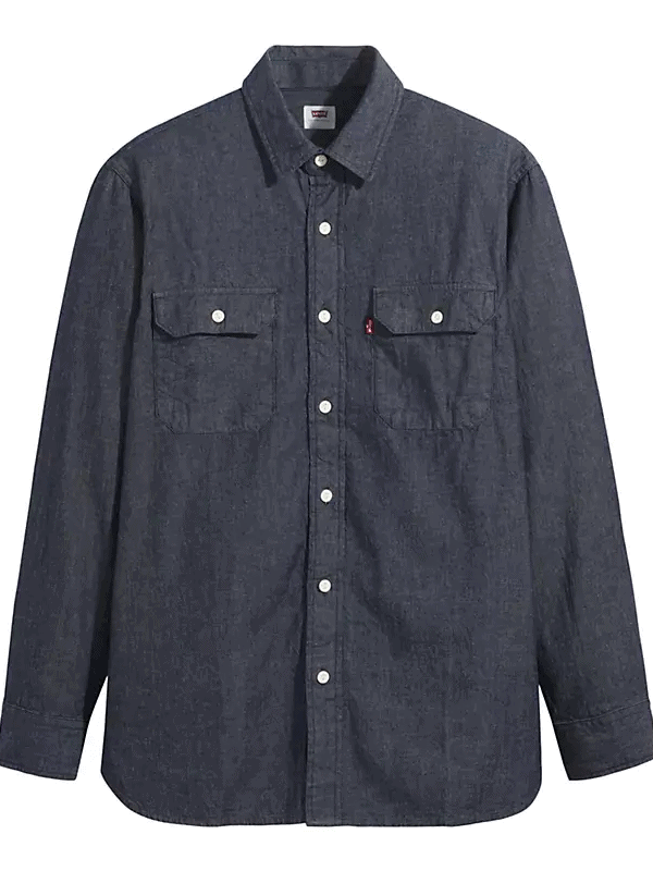 Rinsed Indigo Levi's Classic Denim Work Shirt