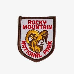 ROCKY MOUNTAIN NATIONAL PARK gold ram patch