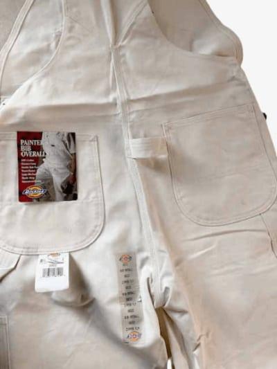 Dickies painter bibs back pocket detail