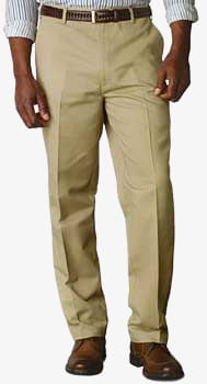Dockers D3 Comfort Fit Pleated Cuffed Khaki Front Side