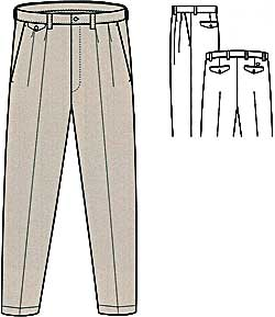 Dockers D4 Relaxed Fit Pleated and Cuffed Visual Illustration