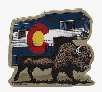 Buffalo Camper Colorado Vinyl Sticker
