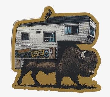 Buffalo Camper Estes Park Vinyl Sticker