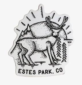 ESTES PARK, CO Buck Deer Vinal Sticker