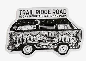 TRAIL RIDGE ROAD ROCKY MOUNTAIN NATIONAL PARK vw van