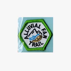 ALLUVIAL FAN TRAIL embroidered patch trail tag