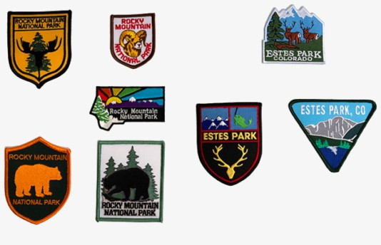 Rocky Mountain National Park and Estes Park embroidered patchess