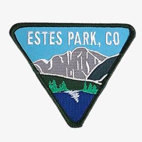 ESTES PARK, CO triangle patch with Longs Peak