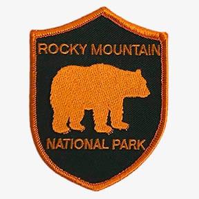 ROCKY MOUNTAIN NATIONAL PARK Orange Bear patch